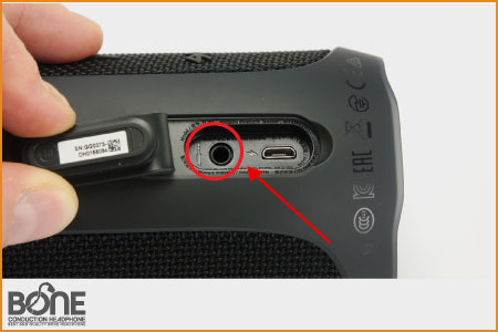 Aux cable place in jbl speaker